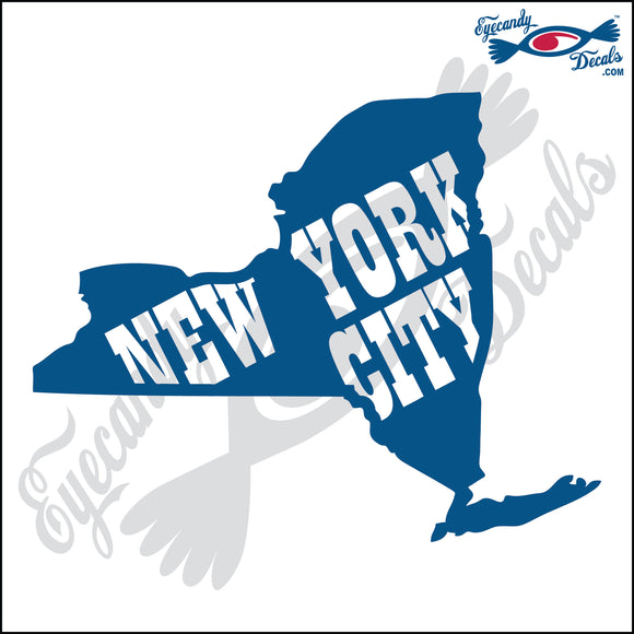 NEW YORK SHAPE with NEW YORK CITY 6 INCH  DECAL