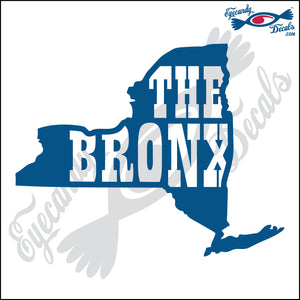 NEW YORK SHAPE with THE BRONX 6 INCH  DECAL