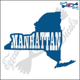 NEW YORK SHAPE with MANHATTAN 6 INCH  DECAL