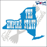 NEW YORK SHAPE with THE EMPIRE STATE 6 INCH  DECAL