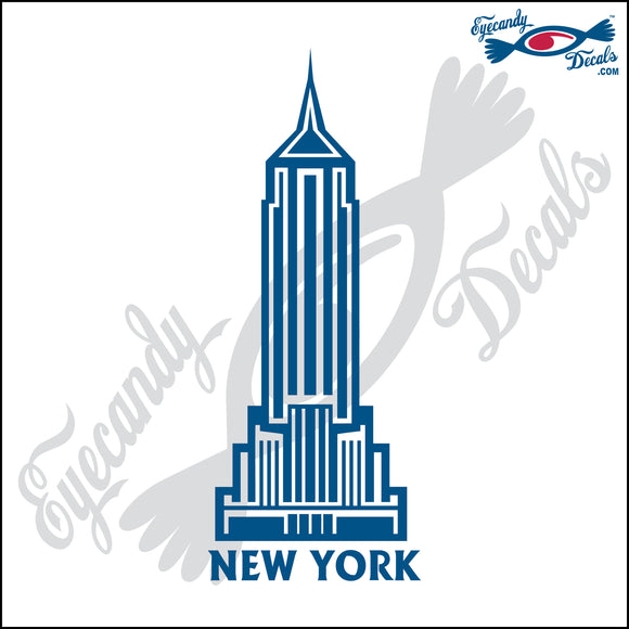 THE EMPIRE STATE BUILDING with NEW YORK 6 INCH  DECAL