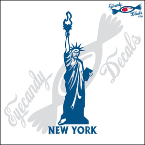 STATUE OF LIBERTY with NEW YORK 6 INCH  DECAL