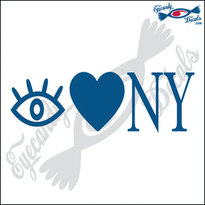 EYE HEART NY NEW YORK 6 INCH  DECAL