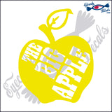 APPLE with THE BIG APPLE NEW YORK 6 INCH  DECAL