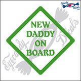 "NEW DADDY ON BOARD 5""  DECAL"