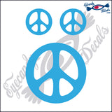 "PEACE SIGN  4""  DECAL plus 2 small"