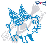 "PIG WITH WINGS  6""  DECAL"