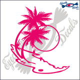 "PALM AND SUNSET  5""  DECAL"