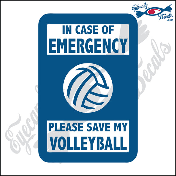 PLEASE SAVE MY VOLLEYBALL 5 INCH  DECAL