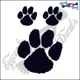 "TIGER PAW   4""  DECAL plus 2 small"