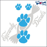 "TIGER PAW 4 PACK   2-2"" PLUS 2-1""  DECAL"