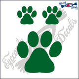 "DOG PAW   4""  DECAL plus 2 small"
