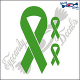 SUPPORT RIBBON PLAIN DECAL  plus 2 small