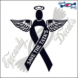 SUPPORT RIBBON ANGEL WITH SAVE THE TATA'S DECAL