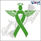 SUPPORT RIBBON ANGEL  DECAL