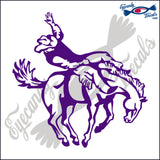 "BUCKING BRONCO HORSE COWBOY  RODEO  5""  DECAL"
