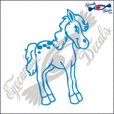 "PONY HORSE RODEO  6""  DECAL"