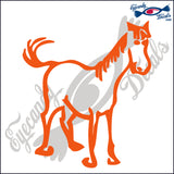 "HORSE STANDING  RODEO  6""  DECAL"