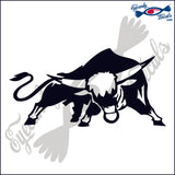 "BULL COW STEER RODEO  6""  DECAL"