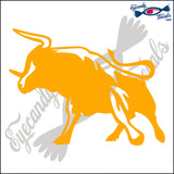 "BULL COW STEER 2 RODEO  6""  DECAL"