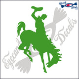 "BUCKING BRONCO HORSE RODEO  6""  DECAL"