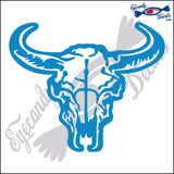 "COW SKULL RODEO  6""  DECAL"