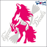 "HORSE ON HIND LEGS RODEO  6""  DECAL"