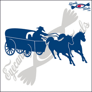 "HORSES AND WAGON RODEO  6""  DECAL"