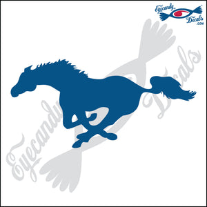 "HORSE RUNNING FACING LEFT 6"" DECAL"