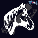 "HORSE HEAD  RODEO  5""  DECAL"