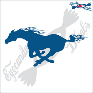 "MUSTANG HORSES RUNNING FACING LEFT 6"" DECAL"