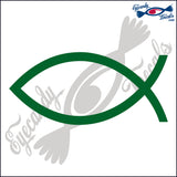 "JESUS FISH BLANK 6""  DECAL"