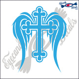 "CROSS WITH WINGS #2 6""  DECAL"