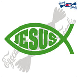 "JESUS FISH WITH JESUS INSIDE 6""  DECAL"