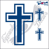 "CROSS #1 6""  plus 3 small DECAL"