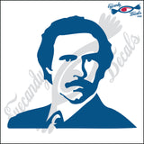 RON BURGUNDY WITH JACKET 6 INCH  DECAL