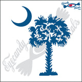 "SOUTH CAROLINA PALMETTO MOON (DETAILED STYLE)  5""  DECAL"