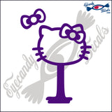 "KITTY FACE AS SOUTH CAROLINA PALMETTO AND MOON  6""  DECAL"