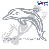 DOLPHIN with  MYRTLE BEACH SOUTH CAROLINA 6 INCH  DECAL