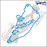 HILTON HEAD SOUTH CAROLINA OUTLINE 6 INCH  DECAL