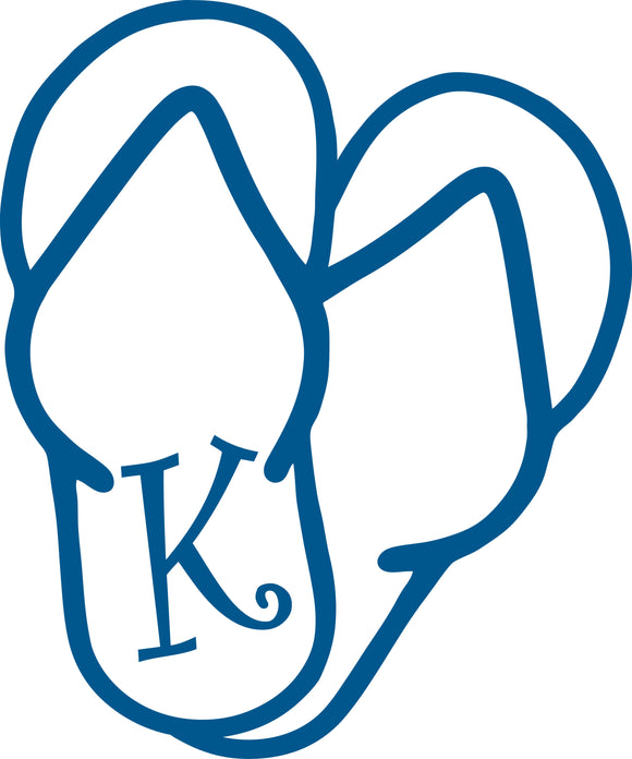 K -  SANDAL MONOGRAM LETTER DECAL 5
