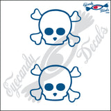 "SKULL FAMILY BOY   2"" DECAL"