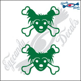 "SKULL FAMILY DOG   1.5"" DECAL"