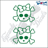 "SKULL FAMILY GIRL   2"" DECAL"