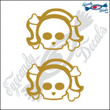 "SKULL FAMILY LADY   2.5"" DECAL"