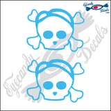 "SKULL FAMILY MAN   2.5"" DECAL"