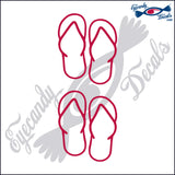 "SANDALS  3""  2 pack DECAL"