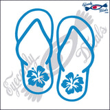 "HIBISCUS SANDALS  5""  DECAL"