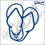 "AIR FORCE SANDALS  5""  DECAL"