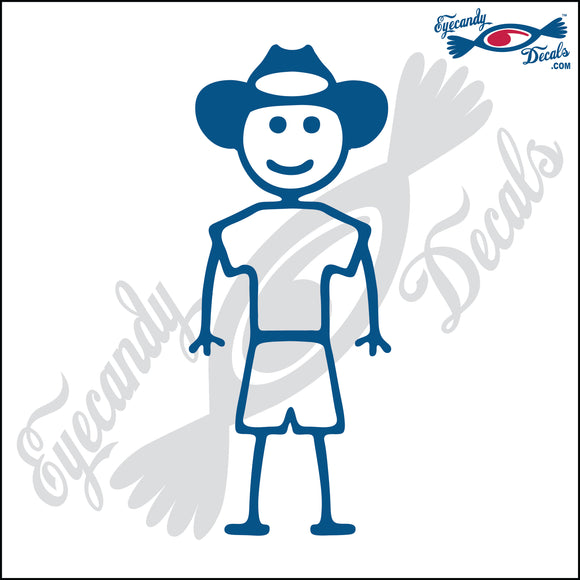 STICK FAMILY BOY WEARING COWBOY HAT   4